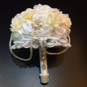 [PASSION ]. Designer's Bling Crystal Rhinestone Bridal Wedding Brooch Bouquet