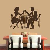 Wall Decals Interior Home Decor Art Cocktail Glass Meals Couple Food Wine Relax Decal Vinyl Sticker Kitchen Cafe Restaurant Gift Home Decor Murals ML38