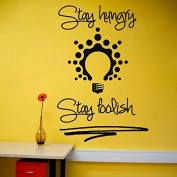 Wall Decals Quotes Stay Hungry Stay Foolish Quote Inspiration Vinyl Sticker Home Decor Room Bedroom Living Room Office Study Murals ML9