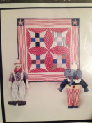 Circus Stars and Big Top Quilt - 43cm Elephant, 43cm Clown and 80cm X 80cm Quilt