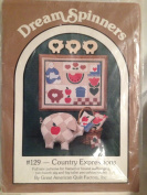 Dream Spinner - Country Expression - Full Size Pattern or Wall Hanging, Patchwork Pig and Log Cabin Pincushion/sachet