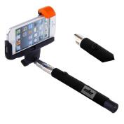 Selfie Stick,ELEOPTION(TM) Bluetooth Monopod Selfie Stick Self Portrait Pole for iPhone 6, 6 Plus 5 5S 5C 4S, Samsung Galaxy S5 S4 S3 Note 4 3 2,Note 10.1 8 3 2 Moto X, Droid 2, Google Nexus 4, 5, 7, 8 with Built-in Remote Control