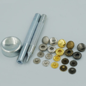 """Bluemoona Metal Snap Fastener Leather Rapid Rivet Button Setting Tool 10mm 3/8"""" Sewing 100 Sets"""