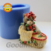 Kitten 3d Mould Soap Mould Silicone Moulds Mould for Soap Mould Silicone Mould Animals Mould Knitted Mould