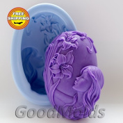 Girl and Flowers Mould Soap Mould Silicone Moulds Mould for Soap Mould Girl Mould Silicone Mould Beautiful Mould