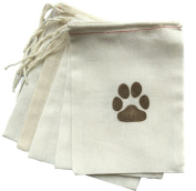 Design Corral 5 X 7 Dog Party Favour Gift Bags Paw Print