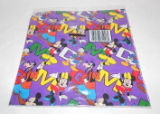 Disney Mickey Mouse, Minnie, Goofy, Donald Gift Wrap Wrapping Paper - Colourful
