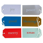 JAM Paper® - Christmas Expressions Small Gift Tag Variety Set - (3 1/16 x 1 5/8) - 6 per pacl