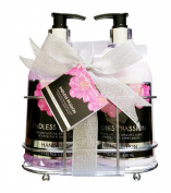Endless Passion Caddy Gift Set - Hand Wash, Moisturising Hand Lotion Gift Set with Decorative Wire Caddy