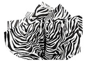 Animal Print Tissue Paper 38cm X 20 - Zebra
