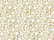Gold & White Elegant Scroll Tissue Paper 20 X 30 - 48 Sheets