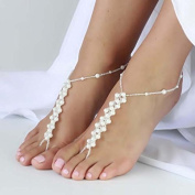 Crochet Barefoot Sandals Ankle Chain Bracelet Barefoot Jewellery One Size Fits All Destination Wedding Anklet Bridesmaid Barefoot Jewellery,Sexy Yoga Shoes Dance Foot Jewellery