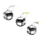 The Elegant Knitter Sheep Knitting Needle Charms, Set of 3, Silver, Medium