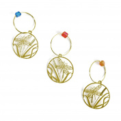 The Elegant Knitter Dragonfly Knitting Needle Charms, Set of 3, Gold, Medium