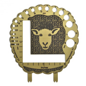 The Elegant Knitter Sheep Brass Knitting Needle/Stitch Gauge