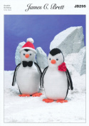 James Brett Double Knitting DK Pattern Fun Winter Knitted Penguins Animal Toys