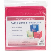 Innovative Home Creations 4870-FUCH Yarn & Craft Storage Cube 12X12X12-Fuchsia