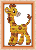 AngelGift Needlecrafts Stamped Counted Cross Stitch, Animal - Yellow Fawns