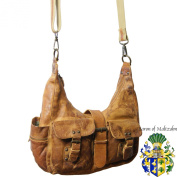 BARON of MALTZAHN Shoulder bag, Cross body bag INNSBRUCK brown genuine Rugged-Hide leather
