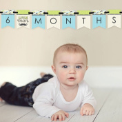 Dashing Little Man - 12 Month By Month Photo Banner for Baby's First Year - Monthly Photo Prop