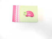Baby Essentials Baby Brag Book Green Gingham Ladybug