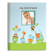 L'il Peach Baby Record Book Boy Blue Animal Train Scrapbook Photo Album