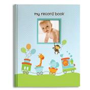 L'il Peach Baby Record Book Boy Blue Animal Train Scrapbook Photo Album