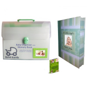 BONUS VALUE PACK Essential Baby Paperwork Organiser With Memory Book Album | PALE GREEN For Boy or Girl | FREE Scrapbooking Guide eBook (12.99 Value) | BEST All-In-One Toddler Document System And Nursery Keepsake | Perfect Shower Gift | 100% Satisfacti ..