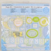 3 Pk, Colorbok Baby Boy 12x12 Scrapbooking Page Kit