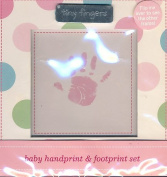 Carter's / Just One Year Baby Girl Handprint and Footprint Kit - Set