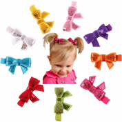Susenstone®9PC Child Babys Girls Sequins Bowknot Flower Hair Clip Photography