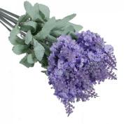 10 Heads Artificial Lavender Silk Flower Bouquet Wedding Home Party Decor New