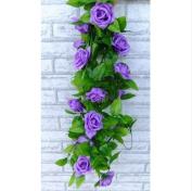Artificial Rose Silk Flower Green Leaf Vine Garland Home Wall Party Decor Wedding Decal