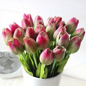 10PCS Wedding Decor PU Tulip Artificial Wedding Home Design Bouquet Flowers
