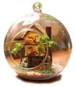 NEW DIY Mini Glass Ball Model Building For Kids Wooden Miniature Dollhouse Toy Gift Forest Lovely Dollhouse