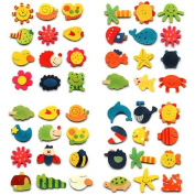 12 Pcs Cartoon Kitchen Fridge Magnet Baby Educational Wooden Toy