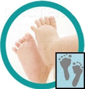Baby Inkless Footprint Kit Combo (colour papers