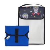 BlueAvocado' Peekaboo Mat Kit in Boys Skulls