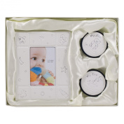 2x3 Photo Frame First Tooth First Curl Ivory Uni-sex Baby Gift Set