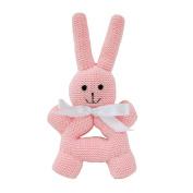 Estella Baby Rattle Toy, Round Bunny, Pink