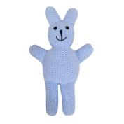Estella Baby Rattle Toy, Straight Bunny, Blue