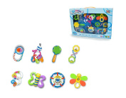 MOLITONG 8 Pieces Fun Baby Toddler Rattle and Teether Toy Set