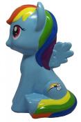 My Little Pony Rainbow Dash Ceramic Coin Bank NWT 2015