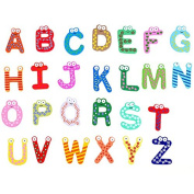 Syeer Fridge Wooden Magnet Baby kids Child Toy A-Z Educational Alphabet 26 Letters colourful Pack of 2