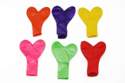 Weeding Decoration Heart Shape Latex Colourful Balloons