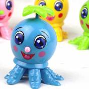 Lovely Octopus Cartoon Animal Wind Up Clockwork Design Toys Funny For Children Doodle On The Chain Rotating Cartoon Toys,6 PCS Octopus