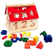 Syeer Kids Baby Wooden House Building Blocks Educational Intellectual Toy