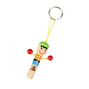 boutique1583 Wooden Cartoon Mini Whistle Puppet Modelling Wind Instruments Pendant Keychain