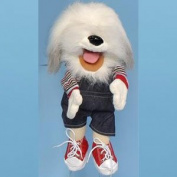Sunny Toys GL1812 36cm . Sheepdog In Rainbow Top Puppet