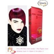 12 X Premium Permanent Hair Colour Cream Dye Dark Blonde Red Reflect Punk Goth 6/5